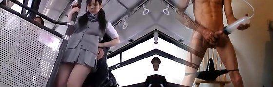 Exotic Japanese nymph Ruka Kanae in Crazy Fingering, Wooly JAV scene