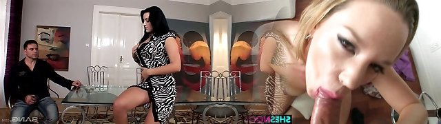 Gullet watering Czech dame Carmen Croft gives her head and gets nailed