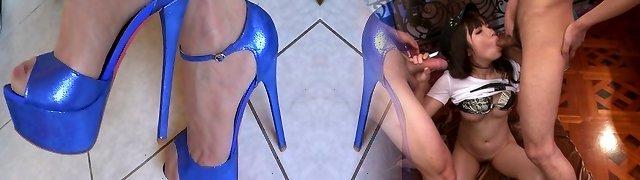 New blue stilettos